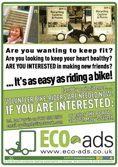 ECO-ads | Riders wanted advert.